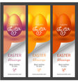 Set with Easter banners for web site vector image vector image