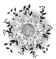 Single flower with detailed background vector image vector image