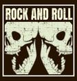 skull hand drawingshirt designs biker disk jockey vector image vector image