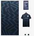 soccer jersey pattern design abstract pattern vector image vector image