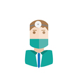 surgeon avatar vector image vector image