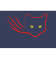 The emblem of the cats in the dark vector image vector image