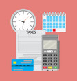 time pay tax vector image vector image