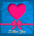 valentines day colored background vector image vector image