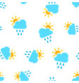 weather forecast icon seamless pattern background vector image vector image