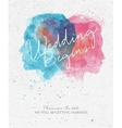 Wedding invitation begins vector image vector image