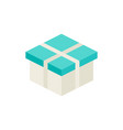 white present box isometric object vector image vector image