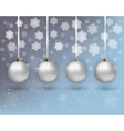 xmas background with balls vector image