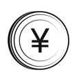 Yen icon simple style vector image vector image