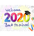 2020 colored back to school class off vector image