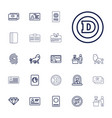 22 identity icons vector image vector image