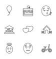 9 happy icons vector image vector image