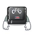 afraid button f6 on shape cartoon