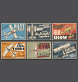aircraft museum pilot school aviation posters vector image vector image