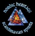 ancient scandinavian pagan symbol valknut vector image vector image
