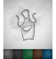 apron icon vector image vector image