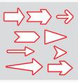 arrows elegant free style vector image