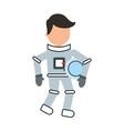 astronaut comic character icon vector image