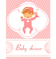 Baby shower Girl with rattle vector image vector image
