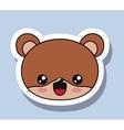 bear character kawaii isolated icon design vector image