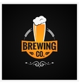 Beer Glass Logo Brewing Company Background vector image vector image
