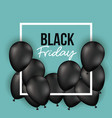 black friday poster with white frame with black vector image vector image