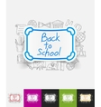 board paper sticker with hand drawn elements vector image