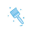 brush colour paint icon design vector image