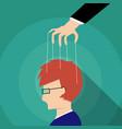 businessman control adults mind design vector image vector image