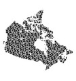 canada map gdp composition of dollar and circles vector image