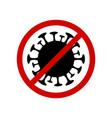 caution coronavirus sign on vector image
