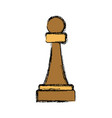 chess game piece vector image vector image