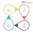 Circular chart diagram with 4 steps pointers vector image vector image