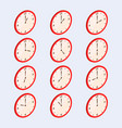 clock show different time isometric vector image vector image