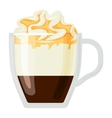 Coffee cups different cafe drinks con panna vector image vector image