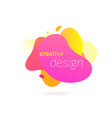color liquid gradient abstract fluid color splash vector image vector image