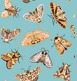 cute butterflies seamless pattern in retro style vector image