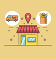 delivery of orders vector image vector image