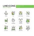 Diet and fitness - line design icons set vector image vector image