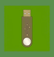 flat shading style icon flash drive vector image vector image
