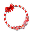 Frame made of candy cane vector image vector image