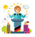 german policy woman politician flat style vector image vector image