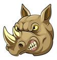 head an angry rhino cartoon