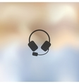 headphones icon on blurred background vector image vector image