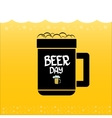 international beer day background vector image