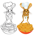 Jerboa chef vector image vector image