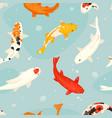 koi fish japanese carp and vector image vector image