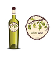 Label for white wine vector image vector image