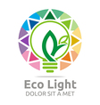 lamp eco light bulb design icon vector image vector image