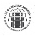 life is a beautiful adventure vector image vector image